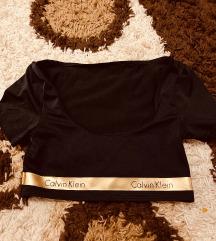 Új eredeti Calvin Klein crop top arany betétes