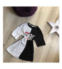 H&M divided fekete-fehér póló
