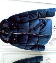 Quiz acélkék plüss puffer jacket S