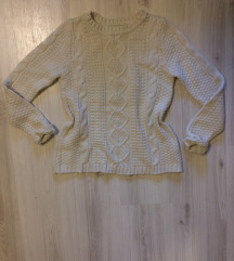 kötött mintás pulóver