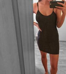 Fekete ujjatlan Mini ruha