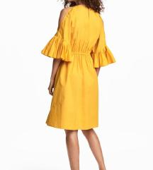 Sárga nyári pamut ruha új 34 napsárga