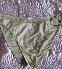 Arany csillogós csatos bikini alsó