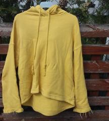 LEÁRAZTAM Sárga kapucnis pulcsi