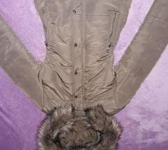 Khaki szìnű bélelt kabát