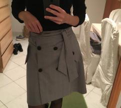 Zara xs szürke office szoknya