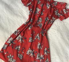 Virágmintás carmen ruha