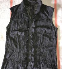 VERSE fekete átlátszó virágmintás női felső, ing