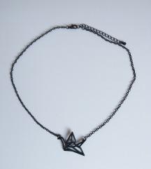 Origami madár nyaklánc