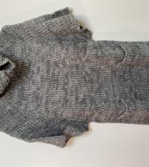 Rövid ujjú, kötött pulóver
