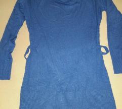 Királykék kötött tunika,ruha(cserés)