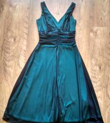 Kék, fekete csipkés, alkalmi ruha, Kömpöc gardrobcsere.hu