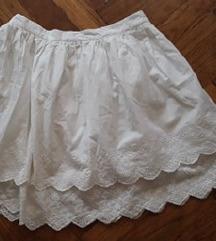 MOHITO 36-os madeira csipkés cuki fehér szoknya