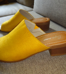 Mustársárga trendi papucs 36-os