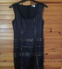 Fekete szegecses miniruha