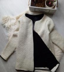 New Look műbőr szegélyes buklé kabát XS