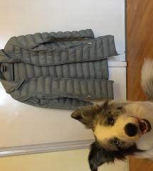 Szürke, hosszú átmeneti kabát