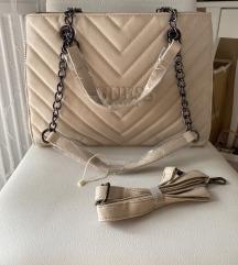 Guess nagyméretű krémszínű női táska