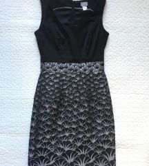 H&m fekete-ezüst ruha