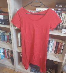 Piros hosszított póló