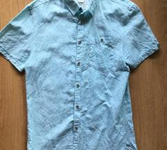 Kék rövidujjú férfi ing