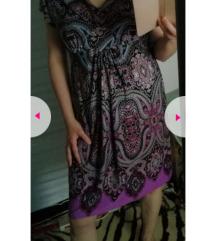 Lila mintás csinos ruha 40/42