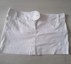 Fehér vászon mini szoknya