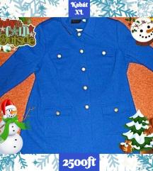 kabát télikabát kék királykék