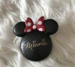 Minnie összecsukható  hajkefe tükörrel Új