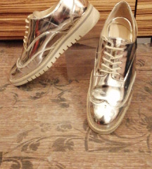 Tükör Ezüst Oxford cipő