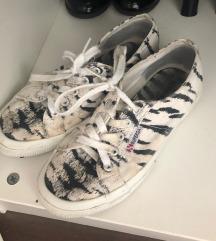 Superga zebra mintás cipő