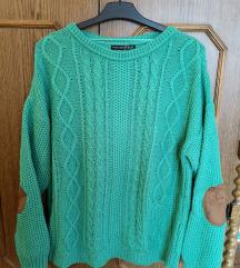 Atmosphere zöld kötött pulcsi, 42-es, ÚJ