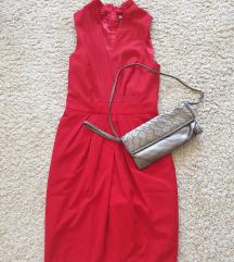 H&M vörös midi ruha