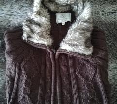 Kötött szőrmés pulcsi
