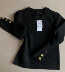 ÚJ, címkés MOHITO pulóver arany gombokkal (S/M-M)