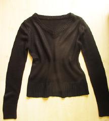 Fekete, kötött pulóver, S-es