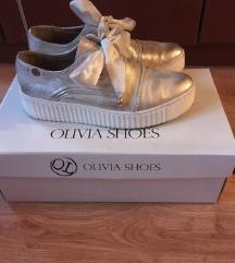 36-os arany bőr cipő Olivia Shoes