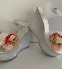 Ideal Shoes platform telitalpú szandál 38
