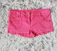 Rózsaszín farmer rövidnadrág 38