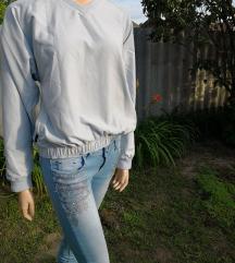 Kékes-fehér Adidas pulcsi-kabát S