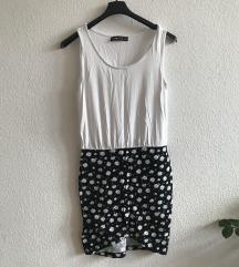 Átlapolt virágos ruha XS