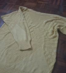 sárga kötött pulcsi
