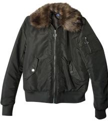 H&M Khaki szőrmés bomber dzseki CSERE IS