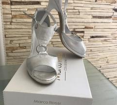 Ezüst magassarkú szandál 38 Marco Rossi
