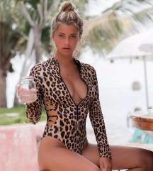 Oldalán nyitott leopárd fürdőruha / body S Új 🖤