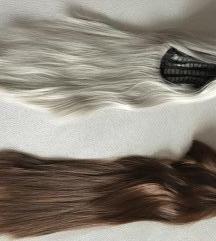 Hamvasszőke/barna parókák