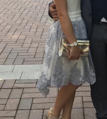 Fehér-ezüst alkalmi ruha