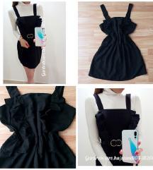 H&M fekete fodros ruha