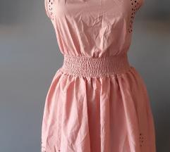 Rózsaszín új lézervágott ruha