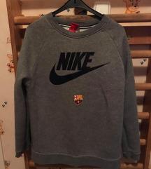 Nike FC Barcelonás szürke pulóver